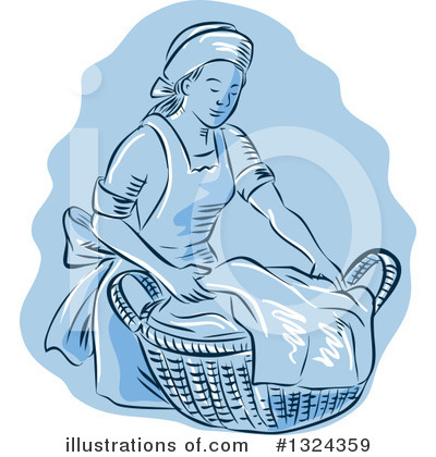 Laundry Clipart #1324359 by patrimonio