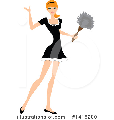 Dusting Clipart #1418200 by Pams Clipart