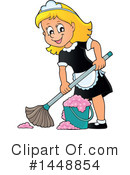 Royalty-Free (RF) Maid Clipart Illustration #1448854