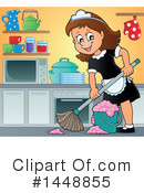 Royalty-Free (RF) Maid Clipart Illustration #1448855
