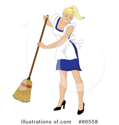 Sweeping Clipart #86558 by Pams Clipart