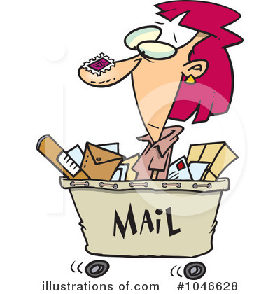 Mail Clipart #1046628 by toonaday