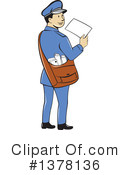 Mail Man Clipart #1378136 by patrimonio