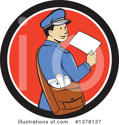 Mail Man Clipart #1378137 by patrimonio