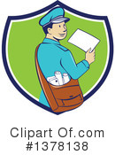 Mail Man Clipart #1378138 by patrimonio