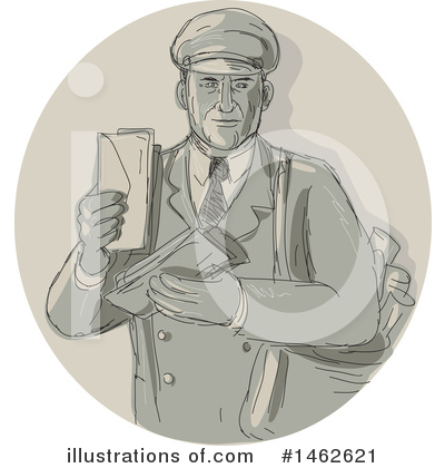 Mail Man Clipart #1462621 by patrimonio