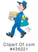 Mail Man Clipart #436221 by Alex Bannykh