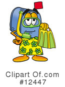 Royalty-Free (RF) mailbox character Clipart Illustration #12447