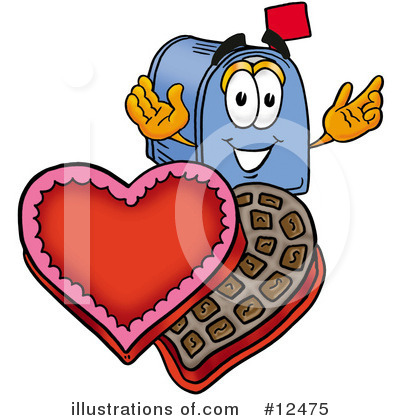 Royalty-Free (RF) Mailbox Character Clipart Illustration by Toons4Biz - Stock Sample #12475
