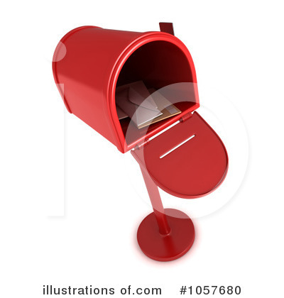 Royalty-Free (RF) Mailbox Clipart Illustration by BNP Design Studio - Stock Sample #1057680