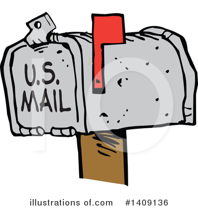 Mailbox Clipart #1409136 by Johnny Sajem
