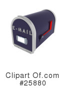 Mailbox Clipart #25880 by KJ Pargeter