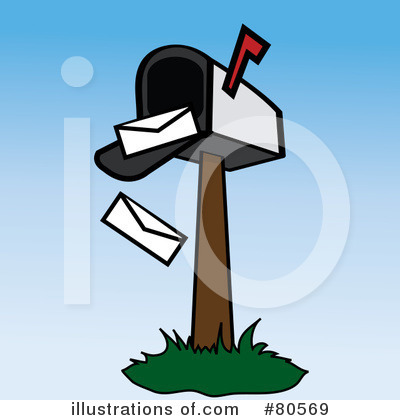 Royalty-Free (RF) Mailbox Clipart Illustration by Pams Clipart - Stock Sample #80569