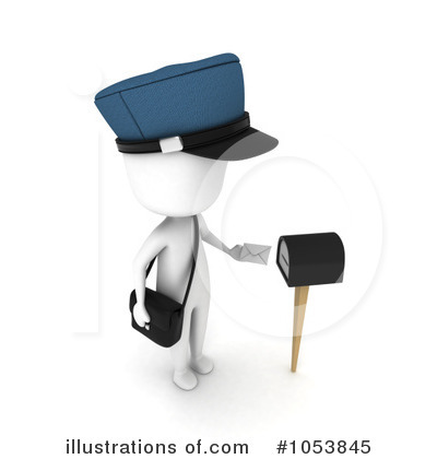 Royalty-Free (RF) Mailman Clipart Illustration by BNP Design Studio - Stock Sample #1053845