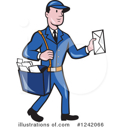 Mail Man Clipart #1242066 by patrimonio