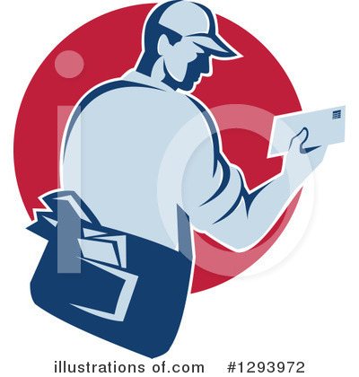 Mail Man Clipart #1293972 by patrimonio