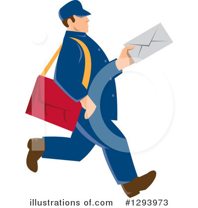Mail Man Clipart #1293973 by patrimonio