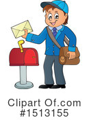 Mailman Clipart #1513155 by visekart