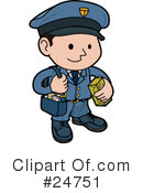 Royalty-Free (RF) mailman Clipart Illustration #24751
