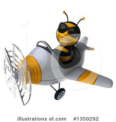 Male Bee Clipart #1350292 by Julos