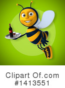 Male Bee Clipart #1413551 by Julos