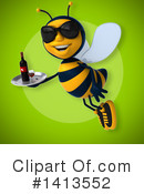 Male Bee Clipart #1413552 by Julos