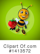 Male Bee Clipart #1413572 by Julos