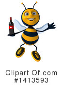 Male Bee Clipart #1413593 by Julos