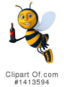 Male Bee Clipart #1413594 by Julos