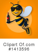 Male Bee Clipart #1413596 by Julos