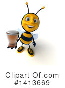 Male Bee Clipart #1413669 by Julos