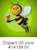 Male Bee Clipart #1413670 by Julos
