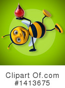 Male Bee Clipart #1413675 by Julos