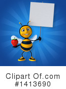 Male Bee Clipart #1413690 by Julos