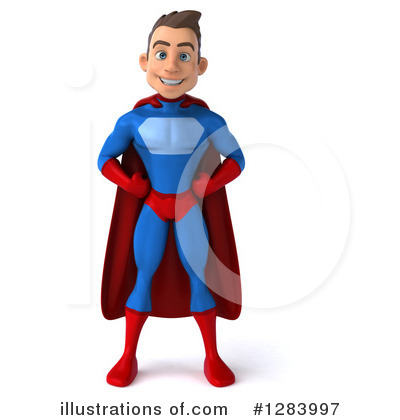 Blue Super Hero Clipart #1283997 by Julos