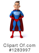 Male Blue And Red Super Hero Clipart #1283997 by Julos