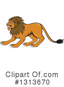 Male Lion Clipart #1313670 by patrimonio