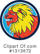 Male Lion Clipart #1313672 by patrimonio