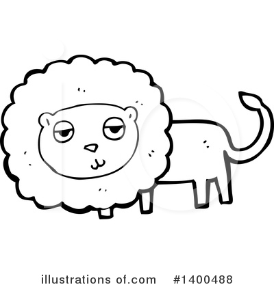 Lion Clipart #1400488 by lineartestpilot