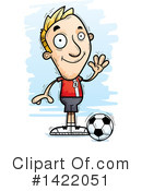 Male Soccer Player Clipart #1422051 by Cory Thoman