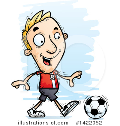 Male Soccer Player Clipart #1422052 by Cory Thoman