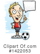 Male Soccer Player Clipart #1422053 by Cory Thoman