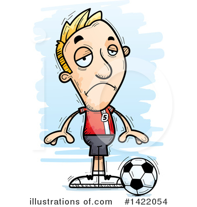Male Soccer Player Clipart #1422054 by Cory Thoman