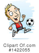 Male Soccer Player Clipart #1422055 by Cory Thoman