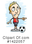 Male Soccer Player Clipart #1422057 by Cory Thoman
