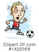 Male Soccer Player Clipart #1422058 by Cory Thoman