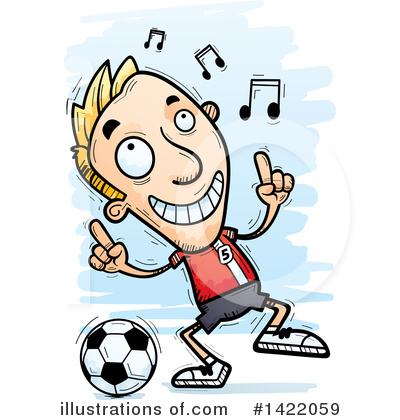 Male Soccer Player Clipart #1422059 by Cory Thoman