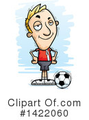 Male Soccer Player Clipart #1422060 by Cory Thoman