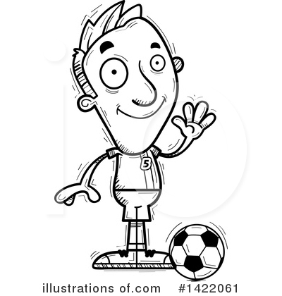 Male Soccer Player Clipart #1422061 by Cory Thoman