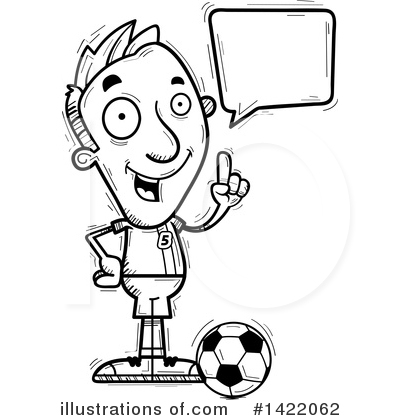 Male Soccer Player Clipart #1422062 by Cory Thoman
